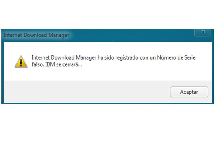 Photo of Solución IDM Ha sido Registrado con un Numero de Serie Falso